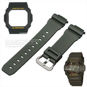CASIO Original Dark Green Watch Band Strap & Bezel G-5600A-3 GW-M5600A-3 G-5600