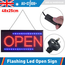 Electric Flashing LED Open Sign Board for Business Shop Cafe Club 48x25cm