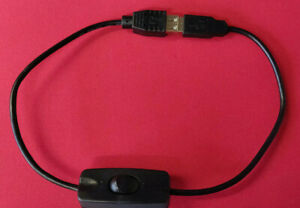 50cm Switched USB A extension cable/lead Power ON/OFF switch USB Data connected