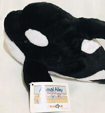"""Toysrus Animal Alley Killer Whale Black Fish White Plush Stuffed 19"""" NWT!"""