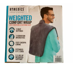 Homedics Weighted Comfort Wrap With Vibration And Soothing Heat For Best Massage