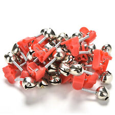 20X Red Hot Plastic Clip Double Rod Bite Alarm Fishing Bells Ring Best FT