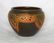 "ROSEVILLE POTTERY Ceramic JARDINIERE 607-5 ""Rosecraft Vintage - Brown"" 1925"