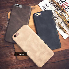 Luxury Ultra-thin PU Leather Back Skin Case Cover For Apple iPhone 8 7 6 6S Plus