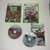 Guitar Hero II 2, Guitar Hero AEROSMITH, XBOX 360 LOT OF 2 GAMES