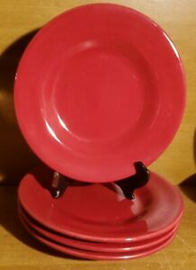 """Tabletops CORSICA RUBY Salad plate set of 4, 8 3/4"""", Red, Excellent"""