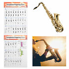Saxophone Fingering Chart Sax Beginner Guide Exercise Sax Instrument Accessories
