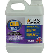 CBS CB8 CENTRAL HEATING ACID RADIATOR FLUSH & DESCALE FOR POWERFLUSHING 1L