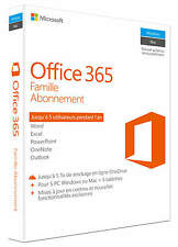 Microsoft Office 365 Famille, 1 an, ESD (Français) (5x PC/MAC)