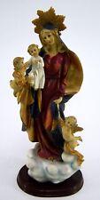 Heiligenfigur Maria Mutter Gottes Statue Religion mit Sockel Höhe ca. 35 cm