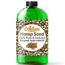 Premium Hemp Oil Drops for Pain Relief, Anxiety, Sleep (PURE, NATURAL) - 4oz