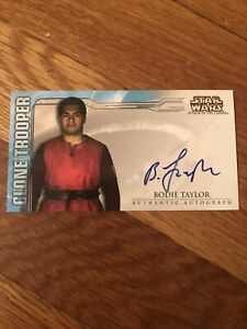 Star Wars Attack of Clones Widevision 2002 Bodie Taylor Autograph Card As Clone