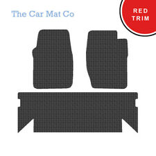 Land Rover Discovery 1 1989-99 Fully Tailored Rubber Car Mats With Red Trim