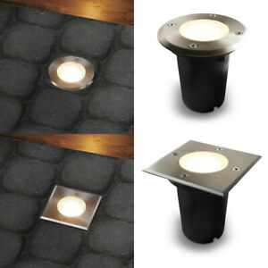 LED Gartenstrahler Bodenleuchte Bodeneinbaustrahler IP67 GU10-230V befahrbar