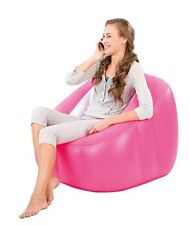 Bestway Comfi Cube Inflatable Playroom Camping Gaming Chair Lounger Sofa Seat Blue
