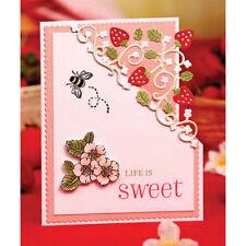 Strawberry Metal Cutting Dies Stencil Scrapbooking Paper Card Embossing Craft UK