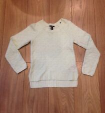 Women's White Size XS H&M Knitted Jumper