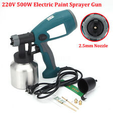 220V 500W 800ml Electric Paint Sprayer Gun Airless Paint Spray 2.5mm Nozzle