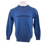 Retro UMBRO Blue Sweatshirt Crew Neck Spell Out Mens Large