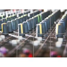 Mixer Mixing Desk DJ Music Dance Wall Art Multi Panel Poster Print 47X33 Inches