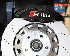 6x Audi S-line HI TEMP Brake caliper decals stickers A3 A4 A5 A6 A7 A8 TT Sline