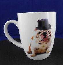 Tasse Cup Becher Mug Bulldogge mit Hut bullddog