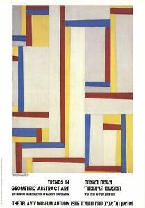 FRITZ GLARNER Relational Painting 27.25 x 19 Poster 1986 Modernism White, Yellow