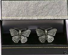 Butterfly Cufflinks Pewter Made in UK Gift Boxed