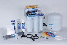 6 Stufige Osmose Osmoseanlage Mineralisierer + Boosterpumpe RO50BP -04 50G NSF