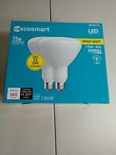 75-Watt Equivalent BR40 Dimmable Energy Star LED Light Bulb Bright White 2 Pack