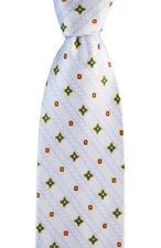 """Mens BRIONI Floral Stripe dis.n.D010171 Hand Made Woven 3.25"""" Silk Tie NWT"""