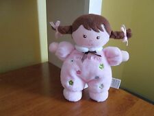 CHILD OF MINE CARTERS MY FIRST DOLL RATTLE BROWN HAIR