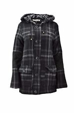 NEU MATIX Damen Winterjacke Mantel Wolle BETTY COAT Kapuze  Gr. M  Black