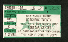 2001 Matchbox Twenty Everclear concert ticket stub Cincinnati Oh Mad Season