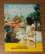 Seltene Werbung CAMEL FILTER - Ich geh' meilenweit für Camel Filter 1973