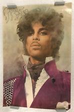 """Prince Poster Original 1999 24"""" x 36"""" Purple Rain Rare 1983 Promo Alan Beaulieu"""