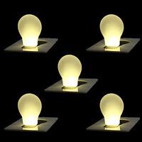 Wallet Purse Pocket LED Night Light Lamp Bulb Credit Card Size Portable 5Pcs New