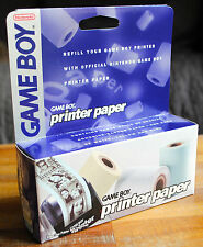 Official GAME BOY PRINTER PAPER (recharge papier imprimante Nintendo) NEUF !