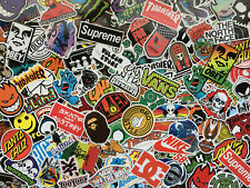 Lot de stickers skate, logos, marques, skateboard, sport, snow, energy drink