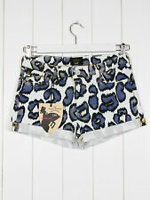 NEW VIVIENNE WESTWOOD X LEE SHORTS LEOPARD PRINT HOT PANTS M W28 UK10
