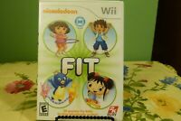 Nickelodeon Fit (Nintendo Wii, 2010) Complete w/ Manual - Tested Working - VG+