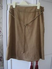 Lovely camel faux suede skirt by next