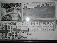 FELICE MELIS MARINI ILLUSTRATORE CAGLIARI SARDEGNA cartolina1899/900 non spedita