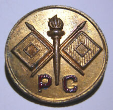 Philippine Constabulary Signal Corps Enameled Collar Disk    *PC*   Pinback