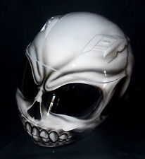 Motorcycle Custom Airbrush Helmet White Walker Walking Death White Death Skull