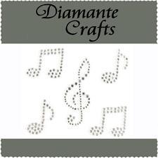 5 x Clear Diamante Music Notes Self Adhesive Rhinestone Vajazzle Body Art Gems