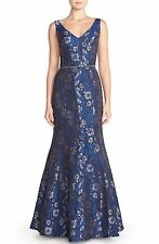 JS Collections Embellished Jacquard Mermaid Gown (Size 4)