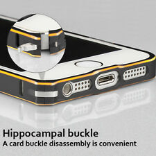 Ultra Thin Slim Aluminium Metal Bumper Frame Case Cover w/Buckle For iPhone 5 5S