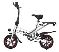 Electric Folding Bicycle 36V 7.5Ah 350W Dual Power Mode C3 City eBike White