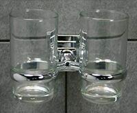 Dekoline  Doppelglashalter Denver Chrom NEU OVP,  Bad, Bad, Zahnputzbecher